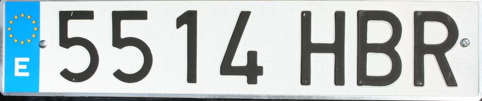 autokennzeichen spanien numberplate spain. Black Bedroom Furniture Sets. Home Design Ideas